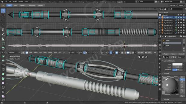 3D Modeling & Rendering - Borehole Survey Tool for Mining