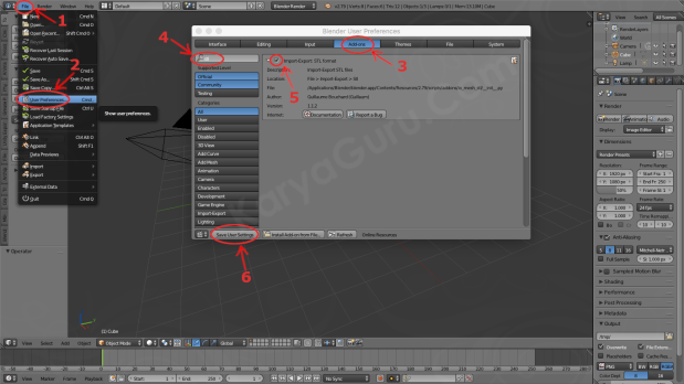 Active Addon Import-Export STL format on Blender