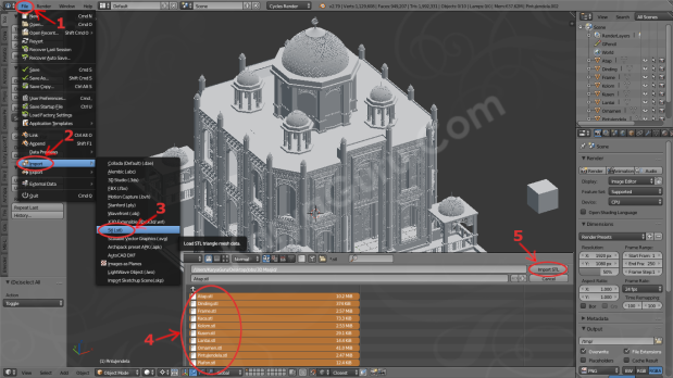 Import AutoCAD STL File to Blender