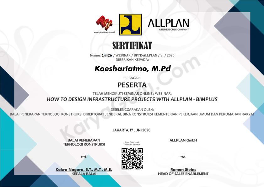 Certificate BIM - Allplan Bimplus