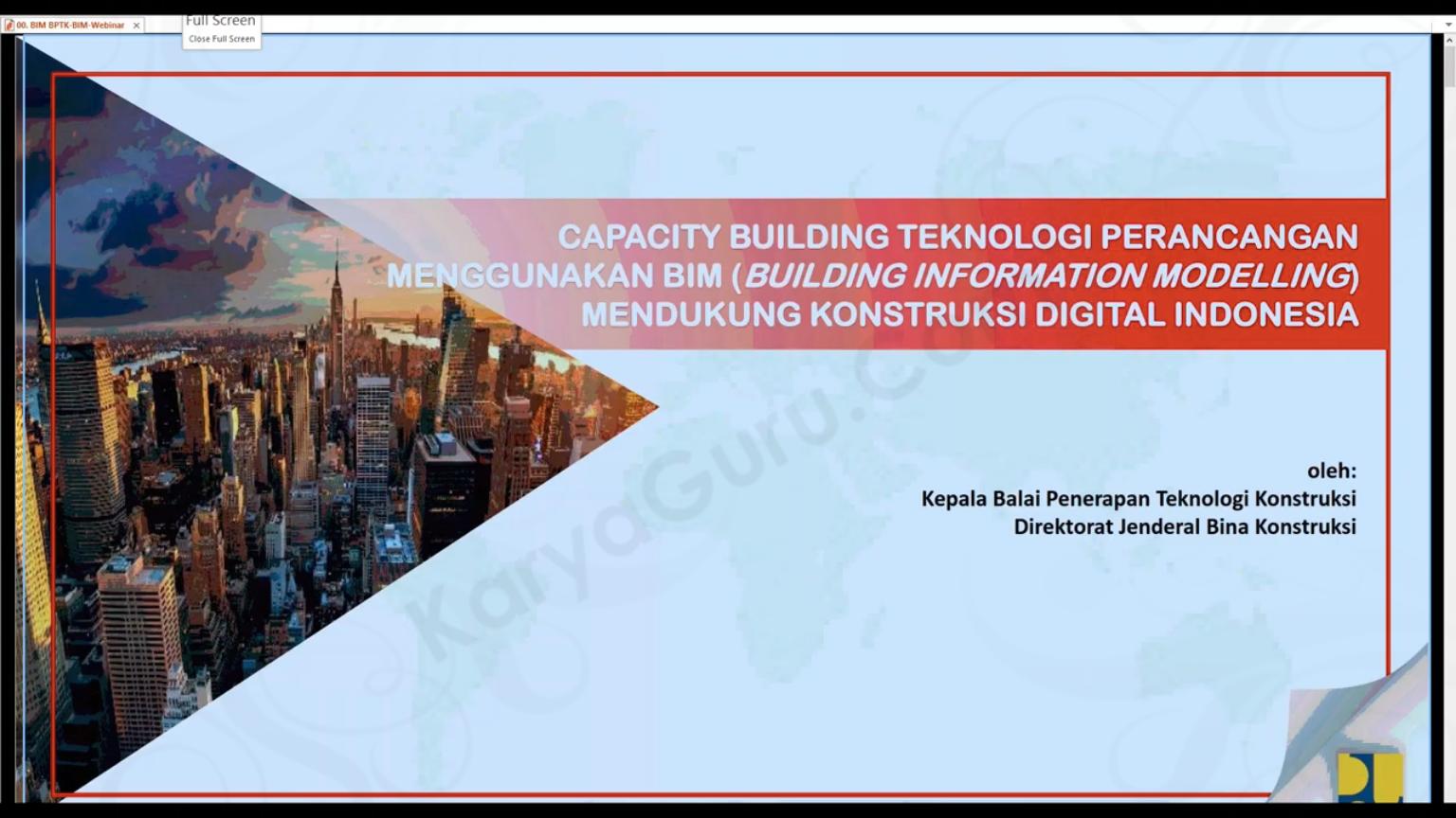 Teknologi Perancangan menggunakan BIM mendukung Konstruksi Digital Indonesia