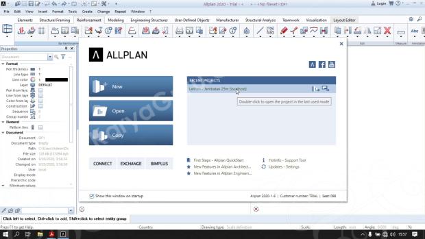 Tutorial Belajar BIM Allplan 2020 - Building Information Modeling Jembatan 25 meter