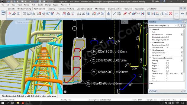 Belajar Pembesian Penulangan 3D Allplan Engineering 2021