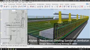 Tutorial BIM Allplan 2021 - Pembesian Dinding Jembatan Gelagar Beton Bertulang 25m