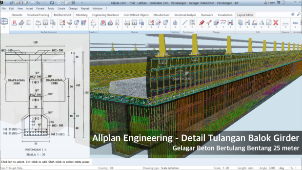 Allplan Engineering 2021 Bridge Girder Reinforcement Detailing